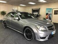 2014 MERCEDES C-CLASS C63 AMG + 1 OWNER + SUNROOF + BLACK/WHITE LEATHER + SALOON