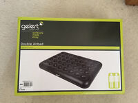 Gelert Double Air Bed -used once - Comes with box