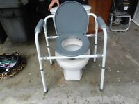 Commode bedside toilet