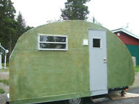 NEW PRICE, HOME MADE VINAGE CAMPER