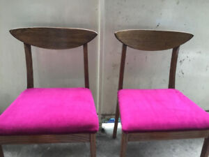 Royal Purple Chairs, recently refinished.