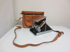 Vintage Brown Leather Polaroid SX 70 Land Camera