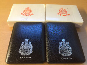 1970s Vintage Canadian Silver $1 Coin w/ display case & box!