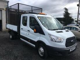 Ford Transit d/cab 15 reg 125 ps ford tipper+ cages