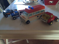 Vintage steel pressed toy truck collection