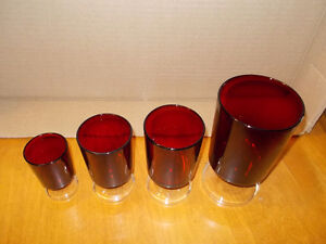 Large lot of 32 Vintage Ruby Red Glasses-Made in France London Ontario image 5