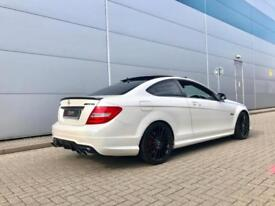 2014 64 Reg Mercedes-Benz C63 6.3 AMG Coupe WHITE + RED LEATHER + HUGE SPEC