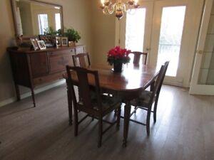 Gibbard Solid Walnut Dining Room Set
