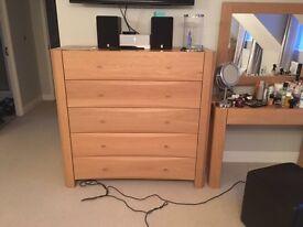 Solid oak bedroom set originally from David phipp