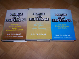 Promise and Deliverance 3 Vols- hardcovers by S.G. De Graaf