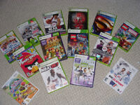 Variety of almost new XBOX 360 games for sale for $2 to $10 each