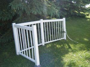 Aluminum railing White