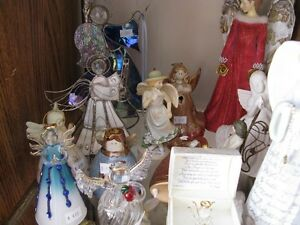 Lots of Angel Figurines at KeepSakes Antique Shoppe