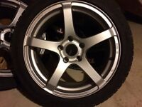 18 inch Enkei Kojin rims with Conti Extreme Contact DWs