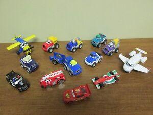 11 Véhicules + 2 avions en métal Tonka + McQueen et au marque