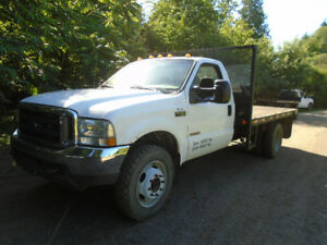 2004 Ford XL F550 4x4 Diesel 12 foot Flat deck