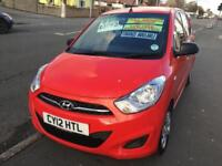 Hyundai i10 1.2 ( 85bhp ) 2012MY Classic Metallic Red Manaul We Pay For Road Tax