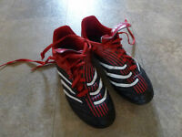 Soccer cleats, kids, adidas, size 5 (approx 10-13 year olds)