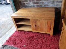 Oak Furniture Land Mantis Solid Mango TV Unit