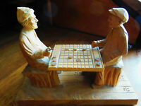 Antique Wood Carving by L. Dube from Saint-Jean-Port-Joli,Quebec