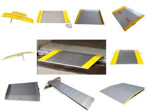 aluminium dock plate, dock board, steel dock board, ramp, contai