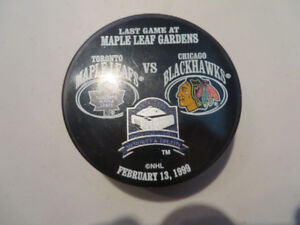 Last Game at Maple Leaf Gardens Game Puck-Feb.13-1999