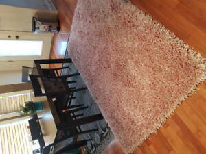 pink thick rug