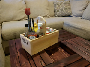Beer and BBQ caddy
