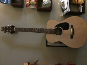 Acoustic youth guitar with case