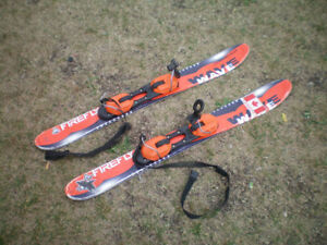 Firefly Red & Black Kids Skis and Carrying Case $30.00