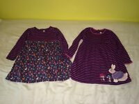 Two Jo Jo maman Bebe dresses age 4-5 years