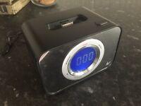 iPod Dock Alarm Clock Speaker Radio