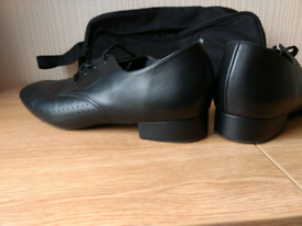 Men's black dance shoes size 9