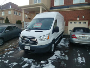 Insulated, high roof, extended length Ford Transit cargo van