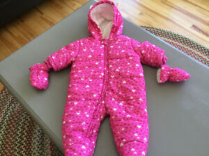 Girls Snow suit 3-6 months Childrens Place