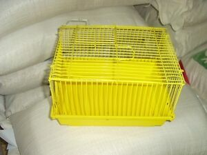 Cage hamster jaune
