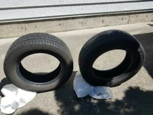 Continental Tie ,235 / 60 R17 -102T,a pair 70% new.