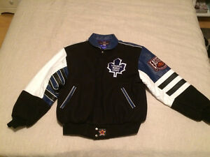 Never Worn partial leather Maple Leafs jacket!!