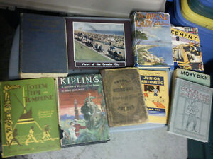 Lot of 10 Antique Books 1870s-1950s - $15 for all 10 books