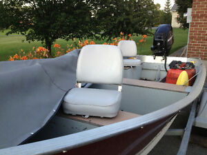 16' LUND with 25 HP 4 stroke MERC Engine