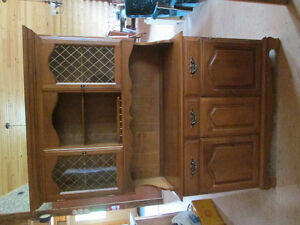 China hutch / table and chairs
