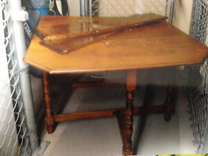 Antique Wood Table with Gable Legs