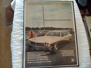 OLD BUICK  CLASSIC CAR FRAMED AD Windsor Region Ontario image 9