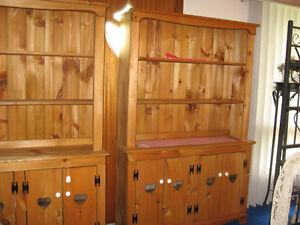 Pine Double Hutch Cabinets