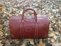 Genuine Horween Leather Duffle Bag X Roots - Carry On Weekender