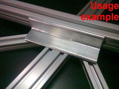 Aluminum T-slot Profile Blank Elbow Join Angle Support 30x30x4mm L120mm 4-set