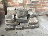 Cobblestones, approx 35 total.