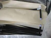 Fabric shelved wardrobe