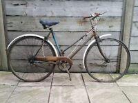 1955 CWS Hurricane ladies bike for restoration