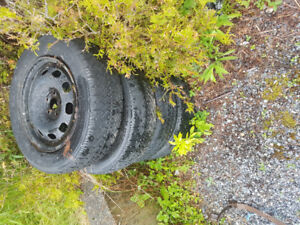 4x winter tires on rims p20560r15 for $80.00 today